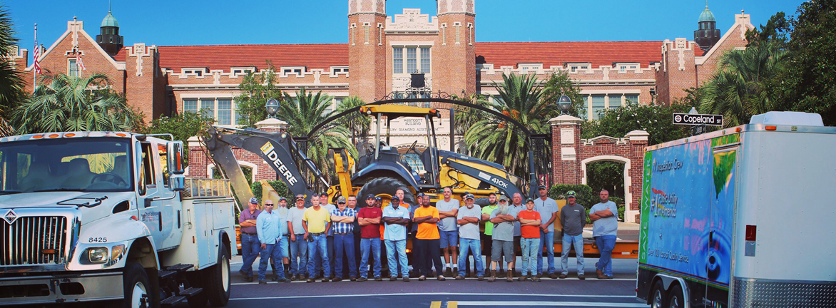Utility team in front of FSU